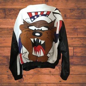 Tasmanian Devil Men's Leather Jacket